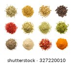 collection of different spices... | Shutterstock . vector #327220010