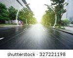 asphalt road of a modern city... | Shutterstock . vector #327221198