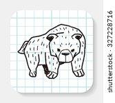 bear doodle | Shutterstock . vector #327228716