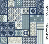 seamless patchwork tile with... | Shutterstock .eps vector #327229658