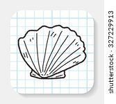 shell doodle | Shutterstock . vector #327229913