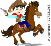Cute Cowboy Kid Cartoon