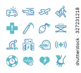 emergency icons set | Shutterstock .eps vector #327231218