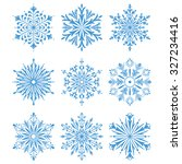 snowflakes icon collection 2.... | Shutterstock .eps vector #327234416