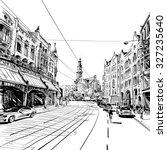 amsterdam hand drawn  vector... | Shutterstock .eps vector #327235640