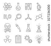 chemistry. vector icons  hand... | Shutterstock .eps vector #327236300