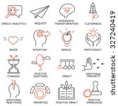 vector set of 16 icons related... | Shutterstock .eps vector #327240419