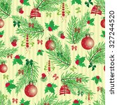 christmas and new year vintage... | Shutterstock . vector #327244520