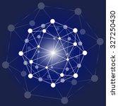 social network and teamwork... | Shutterstock .eps vector #327250430