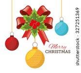 merry christmas design  vector... | Shutterstock .eps vector #327251369
