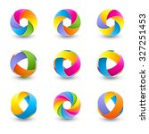 set of abstract round design... | Shutterstock . vector #327251453