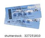 airline boarding pass tickets... | Shutterstock . vector #327251810