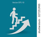 career ladder vector icon | Shutterstock .eps vector #327251900