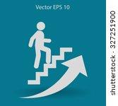 career ladder vector icon | Shutterstock .eps vector #327251900