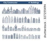city constructor. city skyline... | Shutterstock .eps vector #327255494