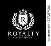 royalty  luxury logo template... | Shutterstock .eps vector #327257000