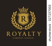royalty  luxury logo template... | Shutterstock .eps vector #327257003