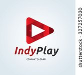 indy play logo media logo... | Shutterstock .eps vector #327257030