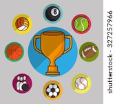 sport concept icon design over... | Shutterstock .eps vector #327257966