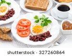 delicious breakfast for...   Shutterstock . vector #327260864