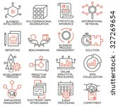vector set of 16 icons related... | Shutterstock .eps vector #327269654