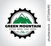 bicycle shop logo. mountain... | Shutterstock .eps vector #327269690