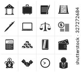 black business and office icons ...   Shutterstock .eps vector #327272684