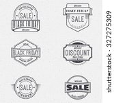 black friday sale insignia  and ... | Shutterstock .eps vector #327275309