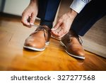 businessman or groom tied a... | Shutterstock . vector #327277568