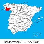 orense map  spain province... | Shutterstock .eps vector #327278534