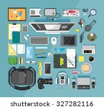 flat design vector illustration ... | Shutterstock .eps vector #327282116