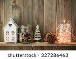 sweet home. white christmas... | Shutterstock . vector #327286463
