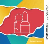 lipstick line icon | Shutterstock .eps vector #327288914