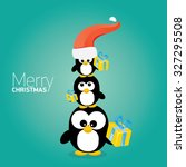merry christmas card with... | Shutterstock .eps vector #327295508