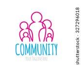 community logo | Shutterstock .eps vector #327296018