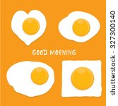 fried egg vector illustration.... | Shutterstock .eps vector #327300140