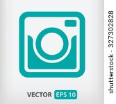 retro camera icon. one of set... | Shutterstock .eps vector #327302828