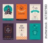 halloween party invitation ... | Shutterstock .eps vector #327307583