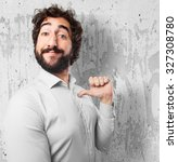 proud young man confident pose | Shutterstock . vector #327308780
