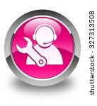 tech support icon glossy pink... | Shutterstock . vector #327313508