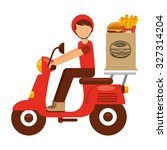 food delivery design  vector... | Shutterstock .eps vector #327314204