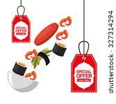 delicious food design  vector...   Shutterstock .eps vector #327314294