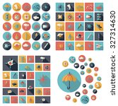 flat concept design with shadow ... | Shutterstock .eps vector #327314630