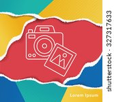 camera line icon | Shutterstock .eps vector #327317633