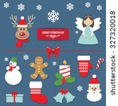christmas decorative elements... | Shutterstock .eps vector #327320018