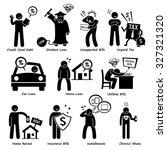 personal liabilities   debt ... | Shutterstock .eps vector #327321320