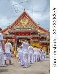 thailand 2015 oct 12 people at... | Shutterstock . vector #327328379
