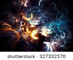 fireworks on holiday party.... | Shutterstock . vector #327332570
