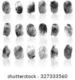 set of fingerprints  vector... | Shutterstock .eps vector #327333560