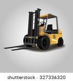 forklift. warehouse forklift.  | Shutterstock .eps vector #327336320